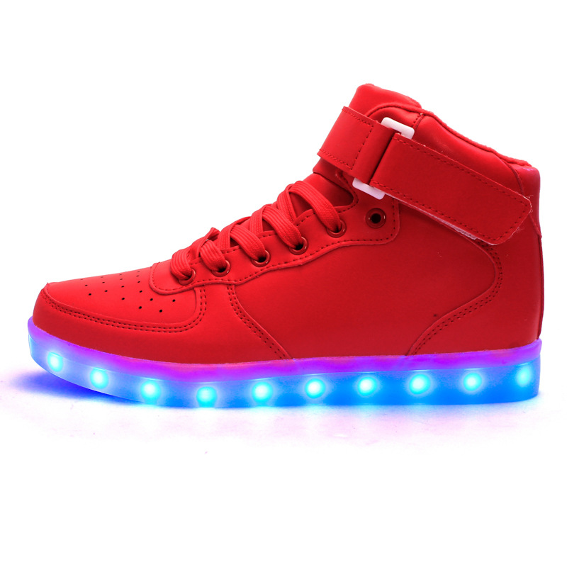 spring of 2019 new children usb charging led light shoes sneakers kid Boys and girls children lighting shoes sneakers with light