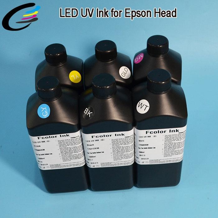 C, M, Y, K, White, Gloss, Roland LED UV Curing Ink LEJ-640 ECO UV Ink high quality 6 colors set roland 1000ml printer ink c m y k lc lm