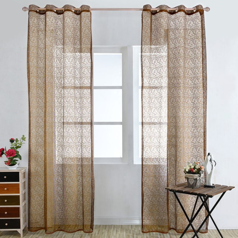 Pattern Rustic Design Window Home Screen Wipe Curtains For