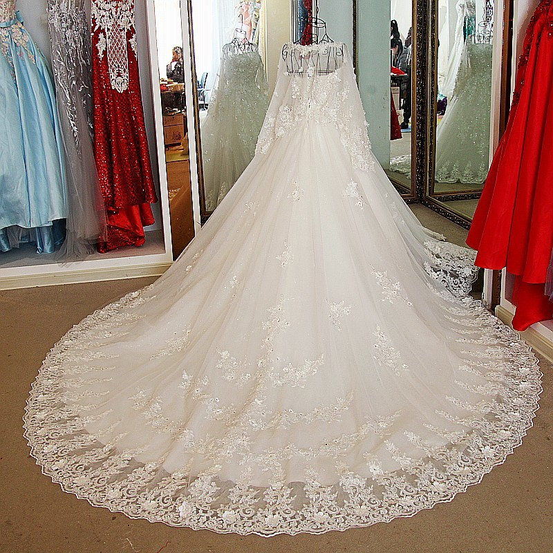 Backlake Bling Wedding Dresses Lace Strapless With Jacket Corset Back Ball Gown Princess Fashion Arrival In From Weddings