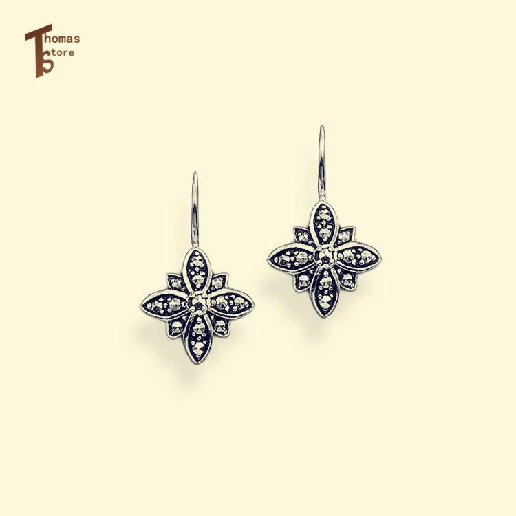 EG1229 Flower Motif Clip Earrings China Style Glam And Soul Good Silver Jewerly For Women 2015 Ts Gift In silver-plated