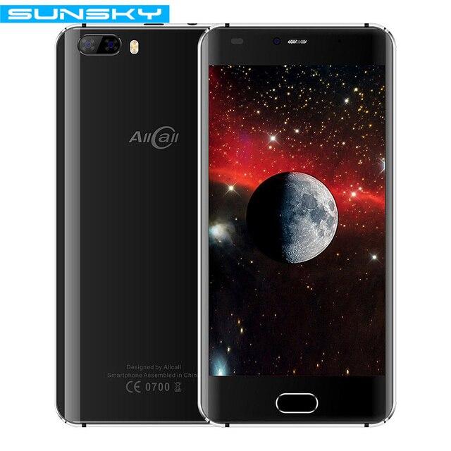 Оригинальный allcall Рио 5.0 дюймов IPS сзади камеры Android 7.0 смартфон mtk6580a 4 ядра 1 ГБ Оперативная память 16 ГБ Встроенная память 8.0mp OTG 3 г мобильного телефона