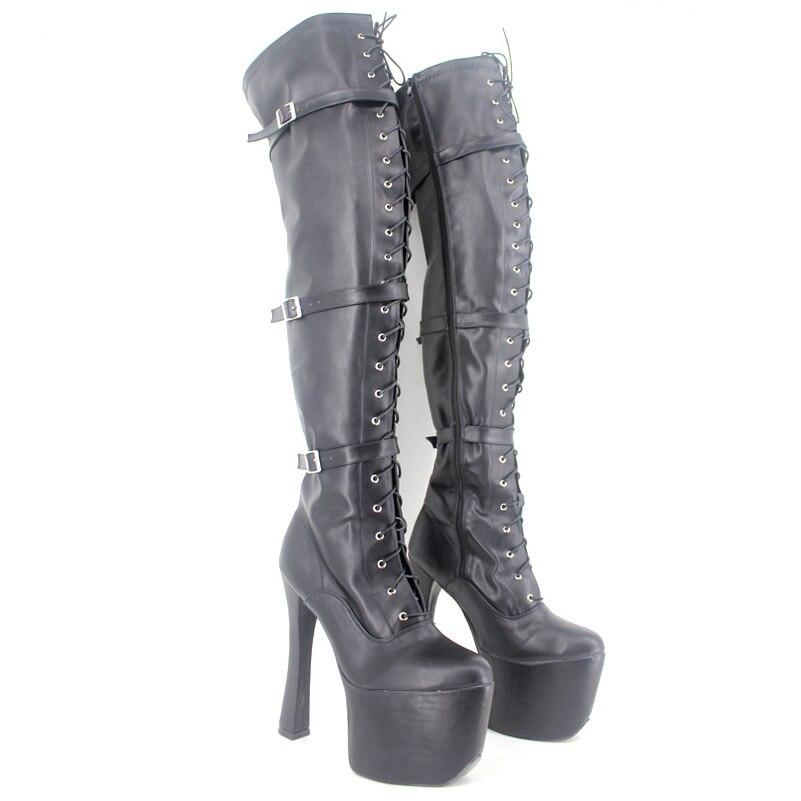 Over The Knee Women Boots Fashion Unised High Heels Round Toe Bottines Femmes Bottine Plateforme Bottes Femmes 2016 Hiver plateforme
