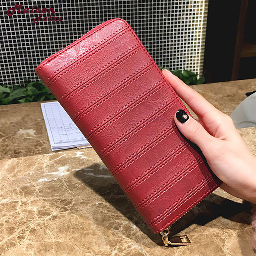 2018 New wallet female 1PC Fashion Lady Women Leather Wallet Long Clutch Card Holder Purse New Year'Gift Large capacity wallets new women wallets cute cartoon bear lady purse fashion design clutch wallet pu leather female card holder fashion bag
