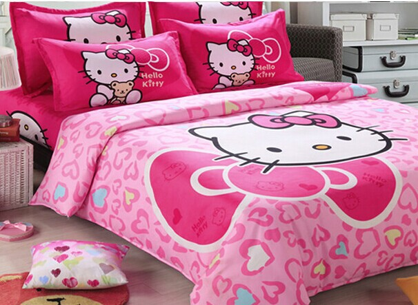 Hello Kitty Wedding Bed Sets 4 Piece Bedding Sets Bed