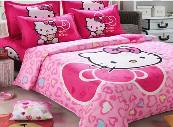 Hello Kitty Wedding Bed Sets 4 Piece Bedding Sets Bed Clothes Sheet