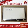 Nuevo a + de 14.0 pulgadas lcd portátil 1920*1080 hd widescreen b140htn01.6 pantalla lcd de reparación de parte de reemplazo para lenovo s3 s41-70