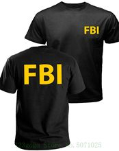 Fbi T Shirt , Government Agent T Shirt , Secret Service , Police , Cia T Shirt Short Sleeve Summer Style(China)