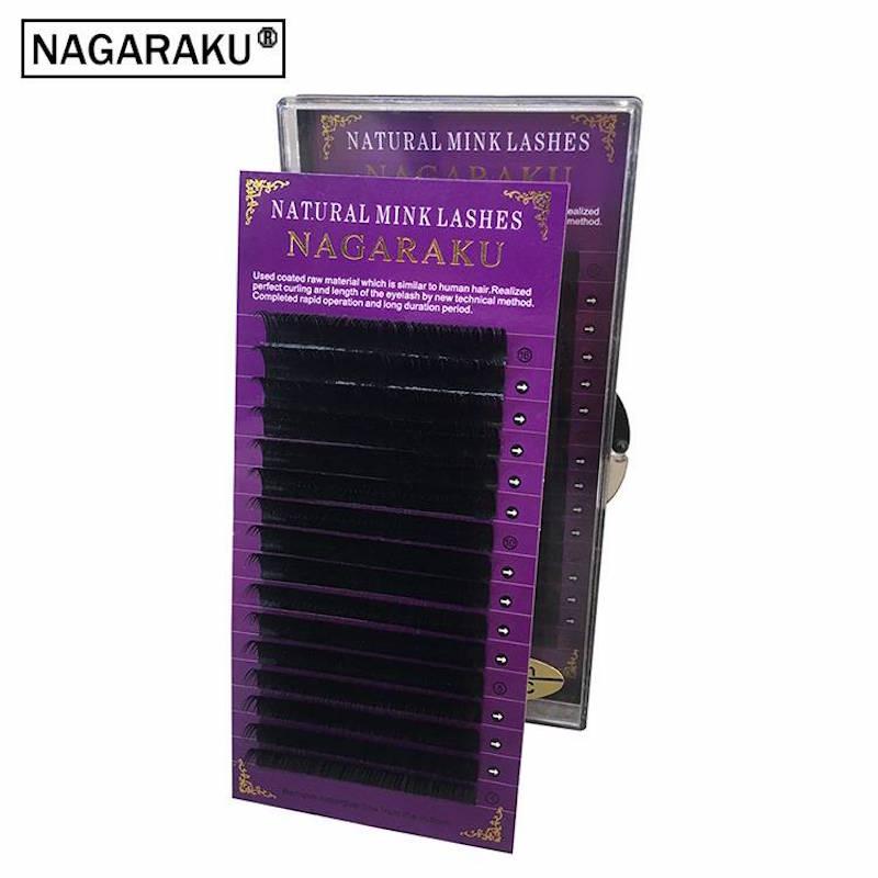 0143bf45462 NAGARAKU,6 cases set,16rows/tray ,high-quality mink eyelash  extension,individual eyelashes,fake eyelashes,natural eyelashes