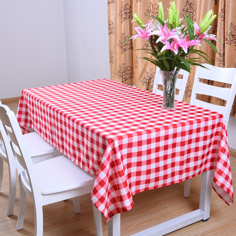 High quality Polyester Cotton Fabric Dining Tablecloth Rectangle Table Cloth Domestic Household Cloth Hotel Restaurant ...