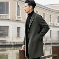 Plaszcz ткань для Chaqueta Larga и куртка Abrigo Hombre Для мужчин осень Invierno зимние корейские кашемировый Узун шерстяное пальто