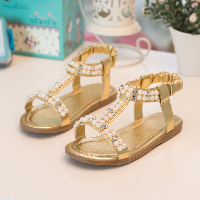 2015 new hot sell children sandals girls princess shoes new summer