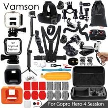 Vamson для gopro hero 4 session аксессуары 3 способ монопод мини-штатив для go pro hero 4 сессии действий камеры vs15