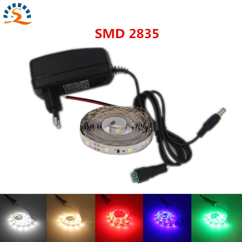 50cm 1m 2m 3m 5m Super bright LED strip smd2835 12v dc red warm white blue green led light lamp Flexible lamp belt