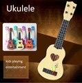 45 CM Crianças Brinquedo Guitarra 4 Cordas Da Guitarra Acústica Sabedoria Desenvolvimento educacional Simulação Divertido Brinquedo Instrumento Musical Presente Das Crianças