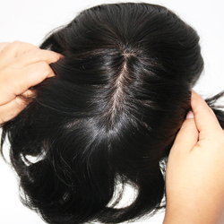 Eversilky Swiss Lace In front With Poly Back Men Toupee Silk Base Bleached Knots Natural Straight Remy Hair Toupee Wigs