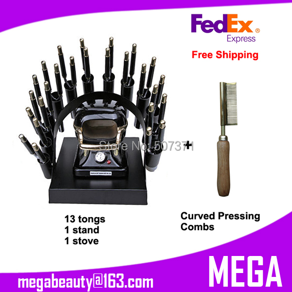 Free Shipping Hair Curling Oven Set 13 Tongs Hn 390 Curling Stove