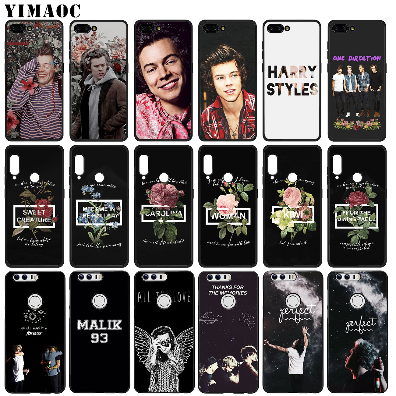 US $2 48 17% OFF|YIMAOC Harry Styles One Direction 1D Soft Silicone Case  for Huawei Y7 Y6 Prime Y9 2018 Honor 8C 8X 8 9 10 Lite 7C 7X 7A Pro-in  Fitted
