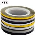1 pcs 2mm 3mm Beleza Rolo de Descascamento Adesivo Foils nail Art Linha Tape DIY Nova Prata/Ouro/preto/Branco Ferramentas Manicure Ferramentas NC125