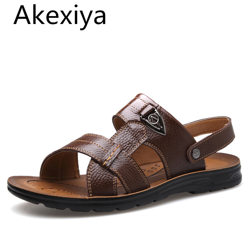 Akexiya Large Size 45 46 47 48 49 50 Summer Beach Sandals Men Shoes 2017 New