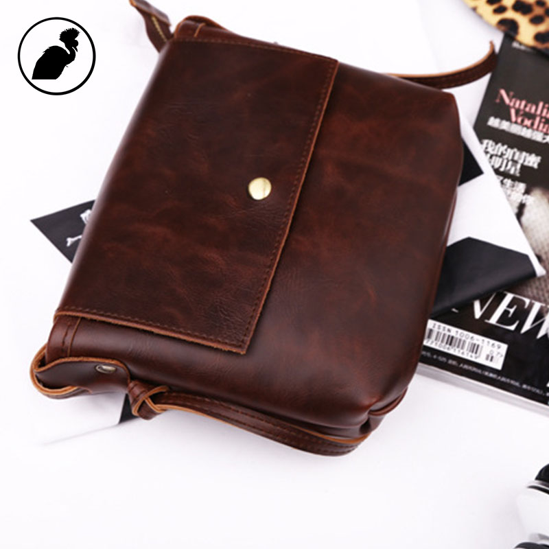 ETONWEAG Leather Mini Women Messenger Bags Vintage Brown Crossbody Bags For Women Preppy Style Envelope Small Shoulder Bag 2017 fashion all match retro split leather women bag top grade small shoulder bags multilayer mini chain women messenger bags