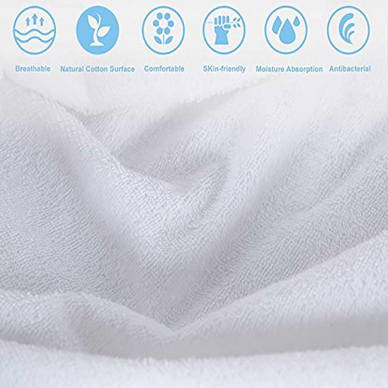 160X200 cm Cotton Terry Nệm Bảo Vệ Không Gây Dị Ứng Nệm Bìa Không Thấm Nước Thoáng Khí Nệm Pad Đối Với Giường Ngủ Bug
