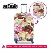 Dispalang 18/20/22/24/26/28/30 Inch Luggage Cover IceCream Print Elastic Waterproof Suitcase Protective Cover Travel Accessories