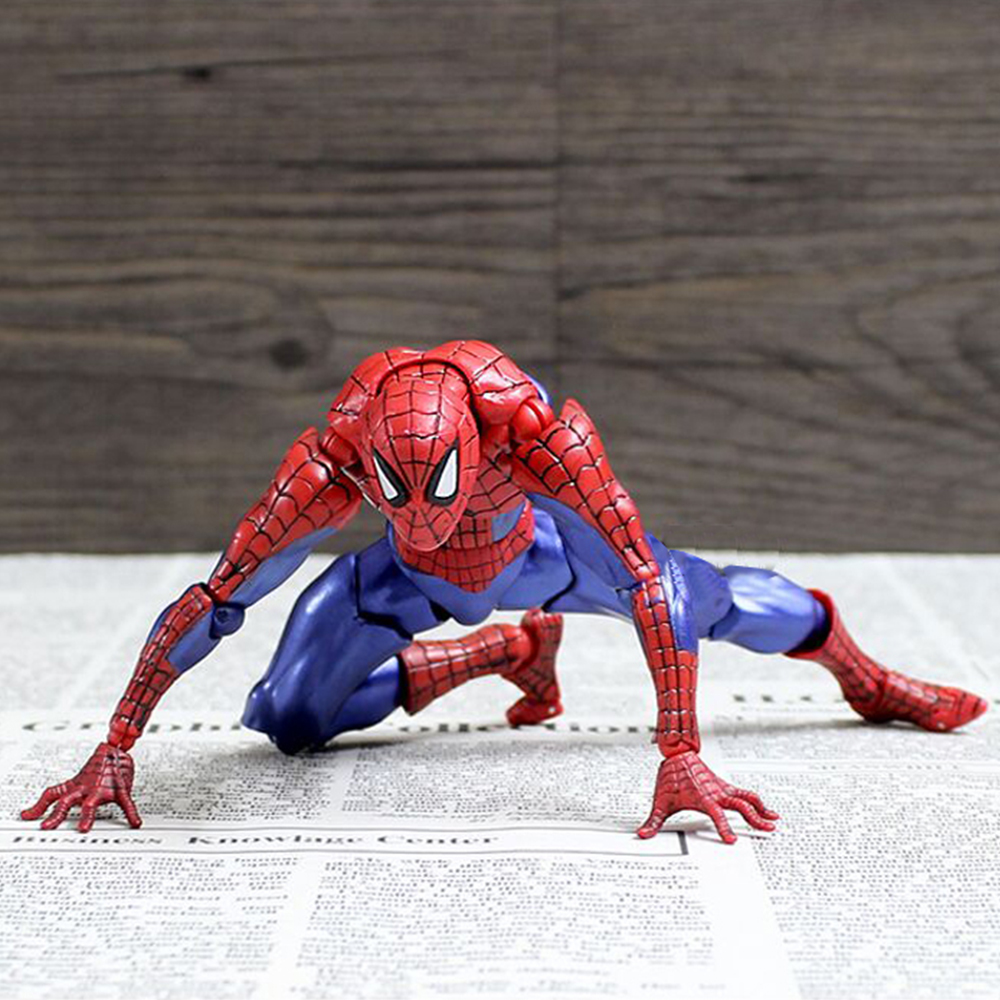 Spiderman Action Figure Toys PVC Joints moveable Spider-man PVC Action Figure Collectible Toy For Children Birthday Present hot toy juguetes 7 oliver jonas queen green arrow superheros joints doll action figure collectible pvc model toy for gifts