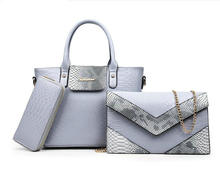 HXXW Famous  Brand Women's Bag Top-Handle Serpentine Embossed Print Women Messenger Bags Handbag and Wallet  H033