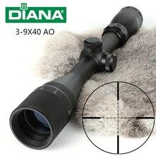 Mira telescópica táctica DIANA 3 9X40 AO un tubo Mil Dot retícula óptica mira Rifle de caza