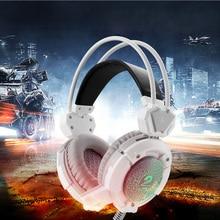 Gaming Headset Juego de Ordenador Auriculares PS4 Luminoso Cancelación de Ruido Con Micrófono Para Teléfonos Móviles PC Portátil de Vídeo Juegos