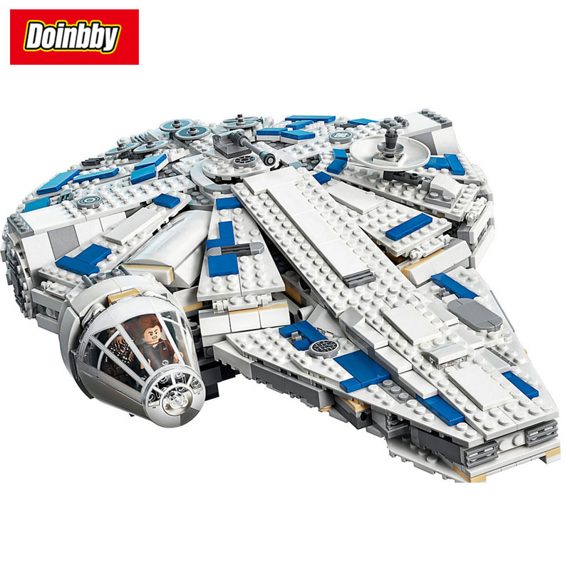 In Stock Kessel Run Millennium Falcon Model Building Block Toys Compatible with Legoings Star Wars 75212