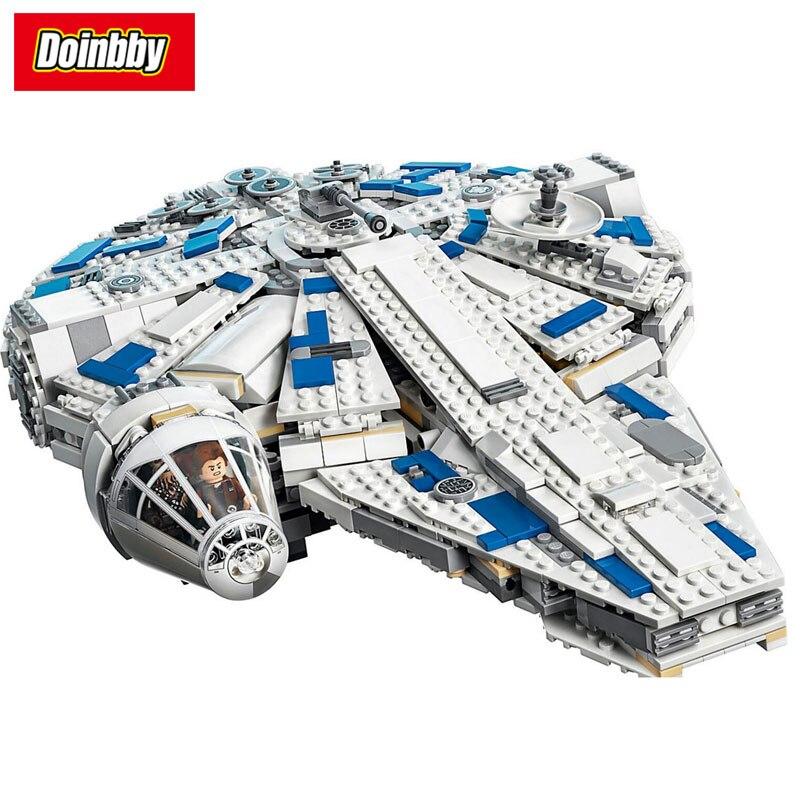 En stock Kessel Run Millennium Falcon Modèle de Construction jouets blocs compatible avec Legoings star wars