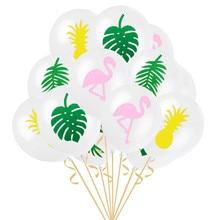 Flamingo pineapple thickened round latex balloon 12 inches wedding birthday small fresh scene decoration