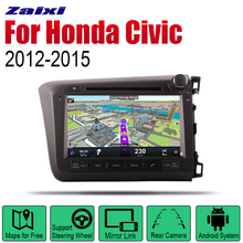 Android 2 Din Auto Radio DVD For Honda Civic 2012~2015 Car Multimedia Player GPS Navigation System Radio Stereo RHD 8 core android 8 1 car dvd player multimedia for honda pilot 2009 2010 2011 2012 auto radio 2 din fm gps navigation video stereo