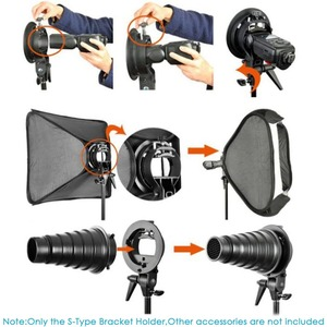 Image 5 - Neewer S Type Bracket Holder with Bowens Mount for Speedlite Flash Snoot Softbox Beauty dish Reflector Umbrella