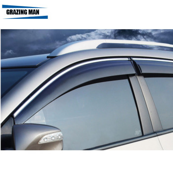 Sun visor High quality PP material car Window Visor Wind Deflector Sun Rain Guard Defletor for CITY 2014