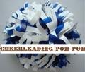 "cheerleading Pom poms 3/4""x 6""~custom color metallic white  plastic  royal blue handmade new hot sale mini order 10 pieces"