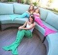 4 Sizes Yarn Knitted Mermaid Tail Blanket Soft Sleeping Bed Handmade Crochet Anti-Pilling Portable Blanket For Spring