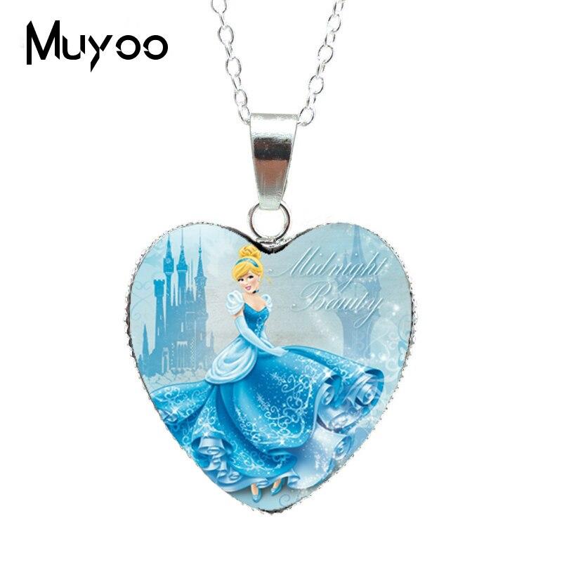Новая модная красивая серебряная подвеска в виде сердца для принцессы Эльзы, Снежной королевы, ожерелье, ювелирное изделие, подарок для девочки HZ3 - Окраска металла: 6