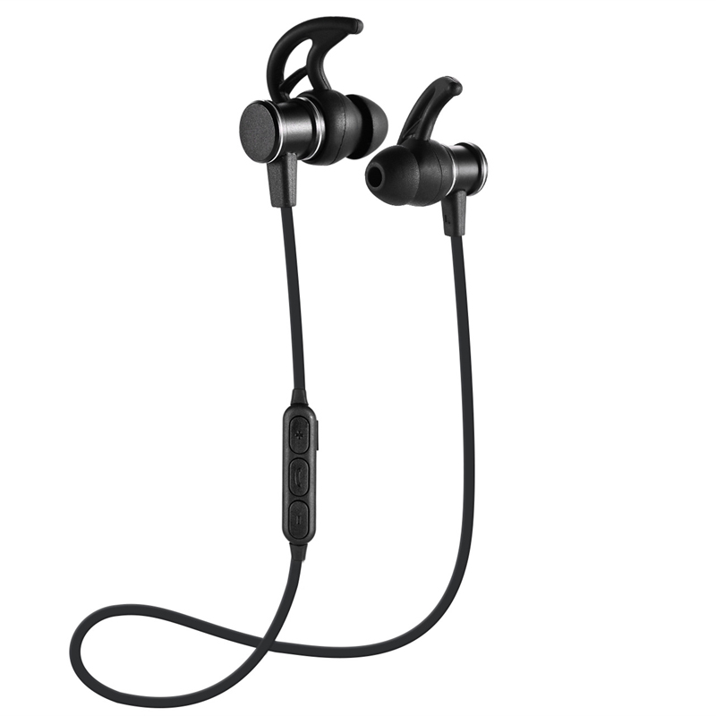 Sport Magnetic Headphone Wireless Bluetooth 4.1 Portable Headphones Stereo Bass Noise Reduction Headset Earbuds with Mic for Htc super bass outdoor portable bluetooth speaker 4 0 ipx4 waterproof wireless stereo sound box with dsp noise reduction mic