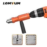 LOMVUM Electric Rivet Nut Gun Riveting Tool Cordless Riveting Drill Adaptor Insert Nut Tool Riveting Drill Adapter