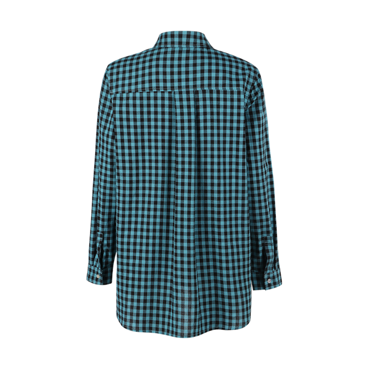 MCO Autumn Basic Plus Size Check Top For Office Ladies Simple Oversized Women Blouse Classic Plaid Shirt Big Size 5xl 6xl 7xl 1