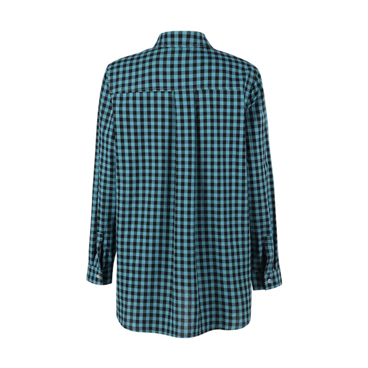 MCO Autumn Basic Plus Size Check Top For Office Ladies Simple Oversized Women Blouse Classic Plaid Shirt Big Size 5xl 6xl 7xl 1