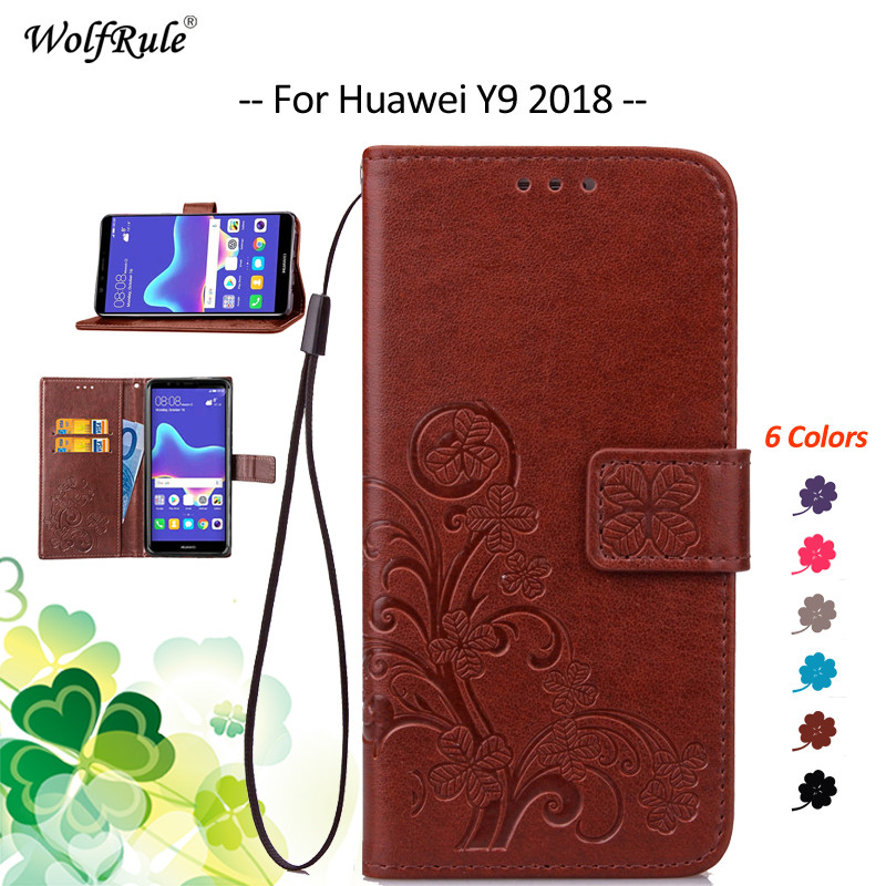 For Fitted Cases Huawei Y9 2018 Case Filp PU Wallet Bumper Housings Phone Bag Case For Huawei Y9 2018 Cover Enjoy 8 Plus 5.93