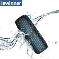 Lewinner New Waterproof Portable Speaker Stereo Wireless Bluetooth Speakers with Ultra Bass HiFi Sound loudspeaker for Outdoor