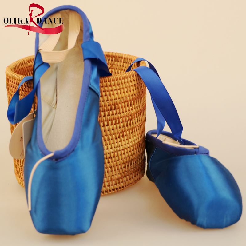 Girls Ballet Dance Shoes leather sole Professional Kids Satin Pointe Shoes with free shoe bag and Toe caps/Kids' Sneakers Dacing canvas shoes women black red jazz shoes ballet dance shoes split heels sole sl02138b2