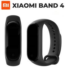 Oryginalny najnowszy Xiao mi mi Band 4 Smart mi band 4 Bluetooth 5 0 bransoletka tętno Fitness 135 mAh AMOLED ekran dotykowy muzyka AI tanie tanio Krokomierz Rejestrator aktywności fizycznej Rejestrator snu Wiadomości z przypomnieniami Przypomnienie o połączeniu