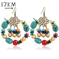 17KM 5 Colors Bohemia Statement Drop Earrings Boho Turkish Vintage Ethnic Jewelry Gift For Women 2016 New Party Bijoux