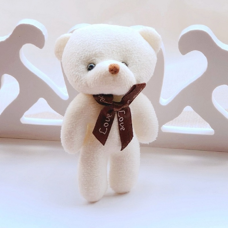 Hot 13cm 4color Plush Toys Pendant Siamese Bear Accessories Small Gift Children Christmas Cartoon Pet Shop stuffed soft love